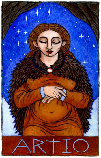 Artio, Bear Goddess of the Celts--bear goddess shaman shamaness ...