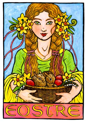Eostre, Germanic Goddess of Spring and the Dawn--Eoster Easter ...