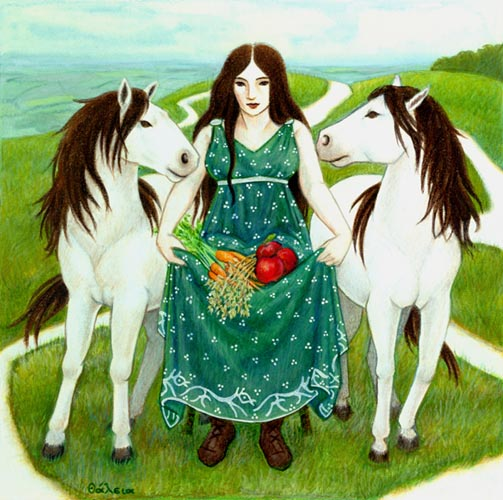 Epona, Celtic Goddess of Horses and Abundance--Celtic gods and ...