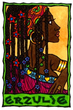 Erzulie, Vodou Lwa of Love and Beauty