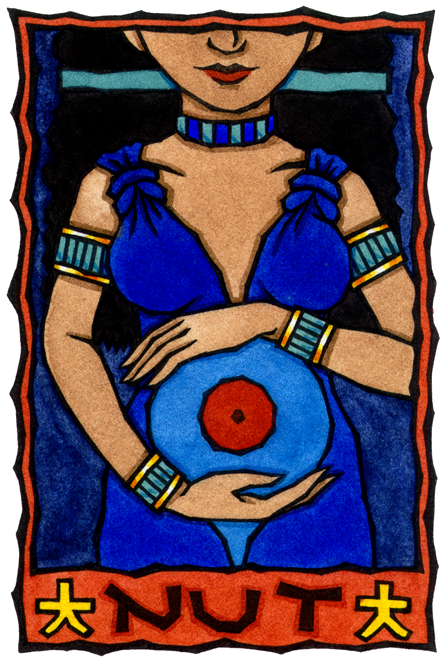 Nut Ancient Egyptian Mother Goddess And Goddess Of The Starry Sky